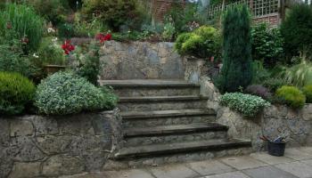 garden, staircase, landscaper