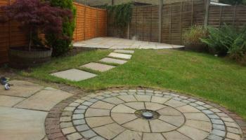 garden, fence, circular design